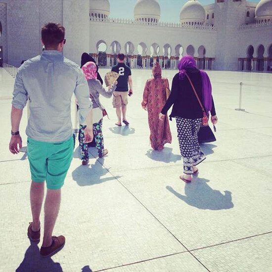Mike at the Sheikh Zayed Mosque in Abu Dhabi (Image: Mike Archer)