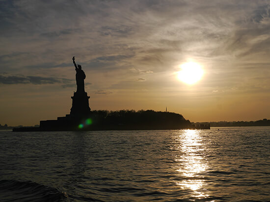 Statue of Liberty at sunset (Image: Alexandra Gregg)