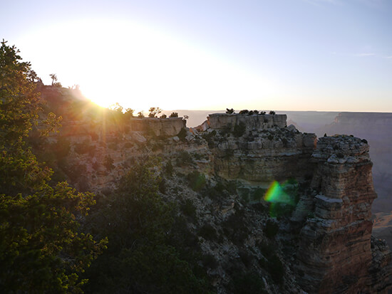 Watching the sunset over the Grand Canyon (Image: Alexandra Gregg)