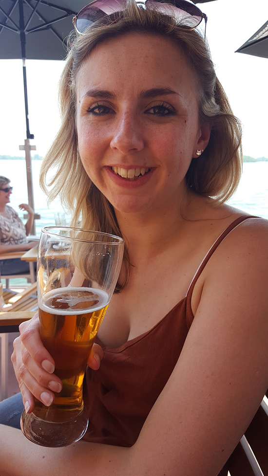 Me with a Natural Blonde beer (image: Bradley Cronin)