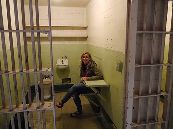 In a cell at Alcatraz (image: Bradley Cronin)