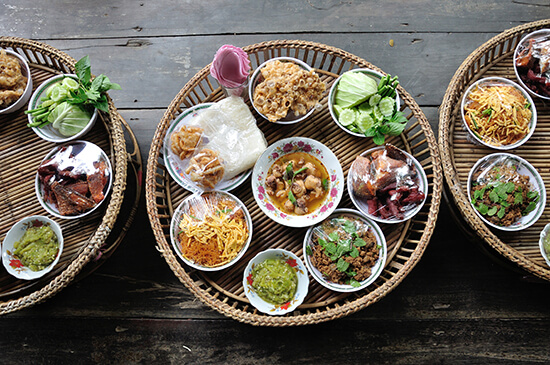 A collection of fresh-cooked dishes in Chiang Mai