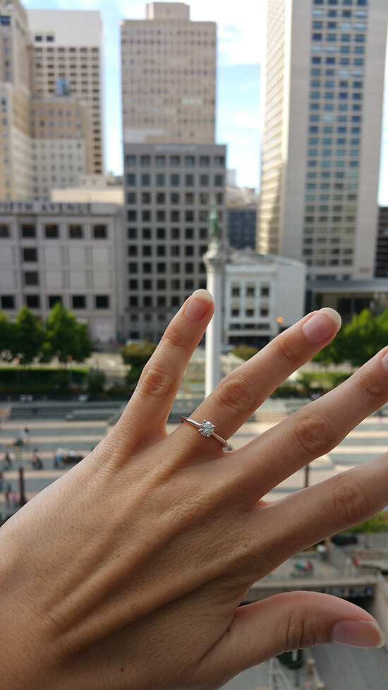 Union Square... and my ring! (image: Alexandra Gregg)