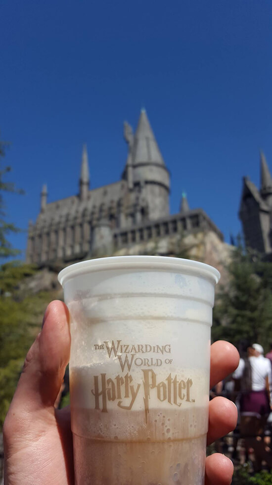Hogwarts and a delicious butterbeer (image: Alexandra Gregg)