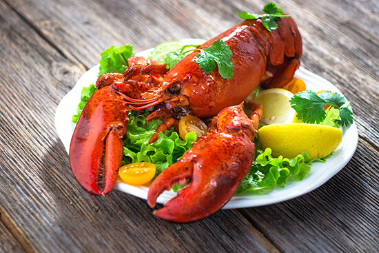 Freshly cooked lobster
