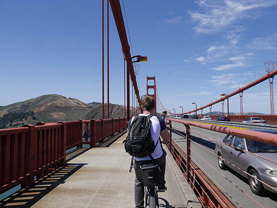 Riding across Golden Gate (image: Alexandra Gregg)