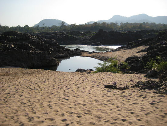 A riverside beach in Si Phan Don (image: Angela Griffin)