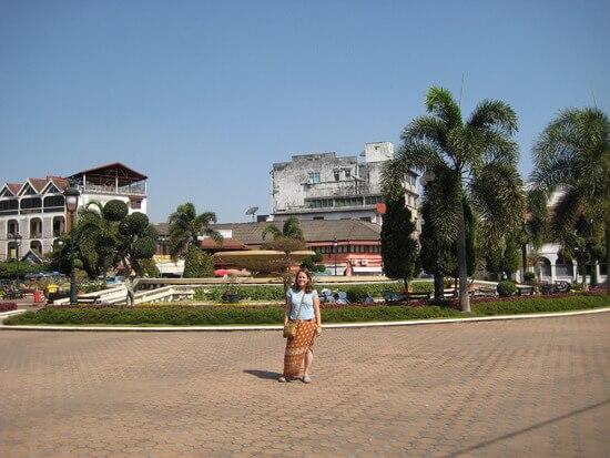 Angela in Vientiane (image: Angela Griffin)