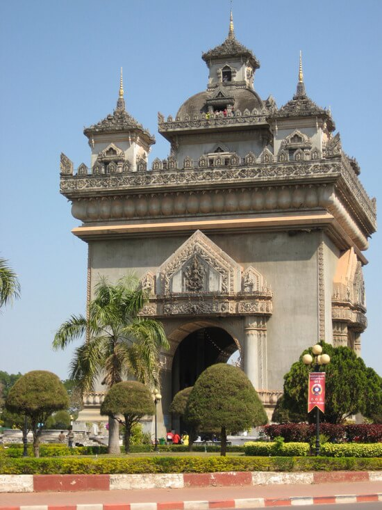 Patuxai Victory Gate in Vientiane (image: Angela Griffin)