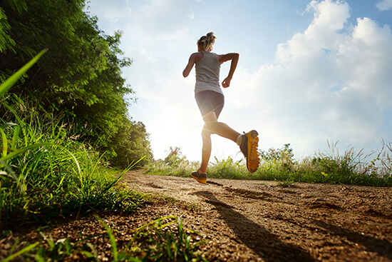 Running is a great way to train
