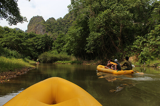Floating along the river in Elephant Hills (image: Helen Winter)
