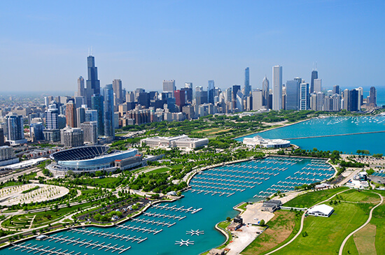 Chicago and Lake Michigan