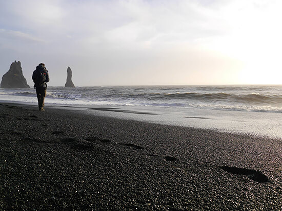 Black sand beach near Vik (image: Alexandra Gregg)
