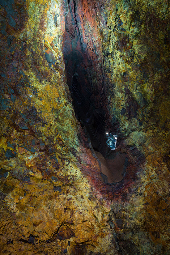 Go inside the volcano at Thrihnukagigur