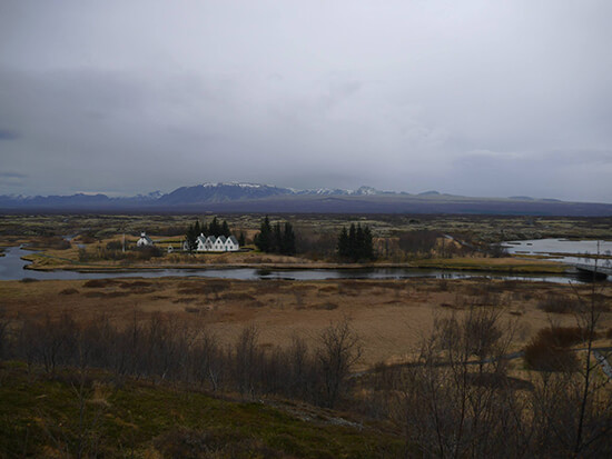 The unusual Icelandic landscapes at Thingvellir (image: Alexandra Gregg)