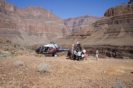 Picnic tables in the Grand Canyon