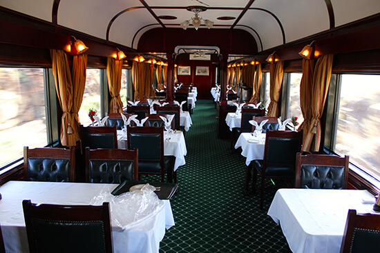 The Rovos Rail dining room (image: Dawn Jorgensen)