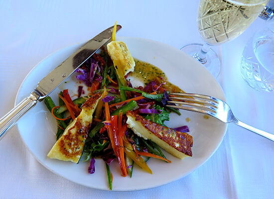 Halloumi salad (image: Dawn Jorgensen)