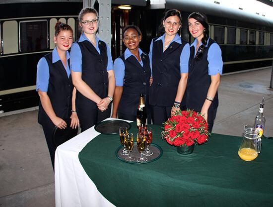 Rovos Rail staff (image: Dawn Jorgensen)