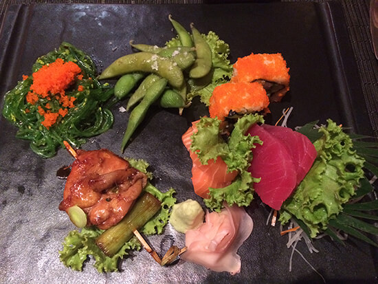 Sushi and sashimi at the Centara Grand (image: Tessa Watkins)