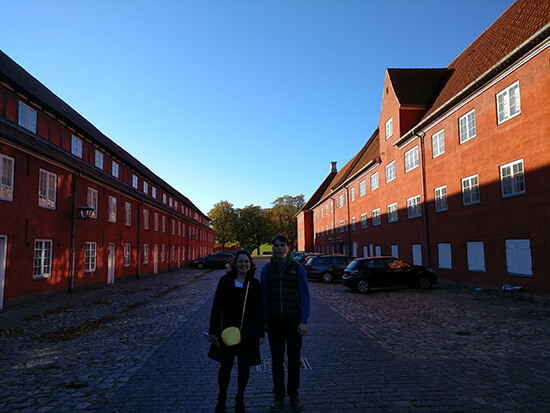 Angela and brother Edward by the Kastellet's Rows (image: Angela Griffin)