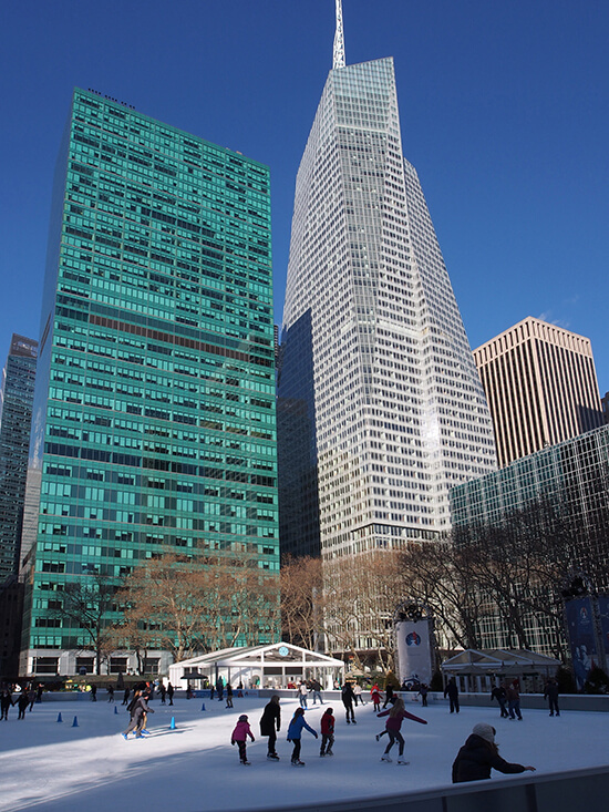 Bryant Park ice rink, New York City
