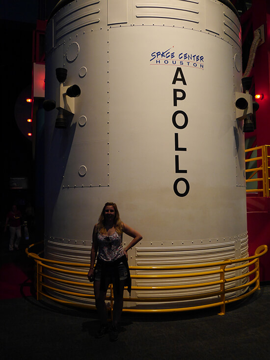 Me at Space Center Houston (image: Alexandra Gregg)