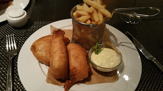The Norwegian take on fish and chips (image: Alexandra Gregg)