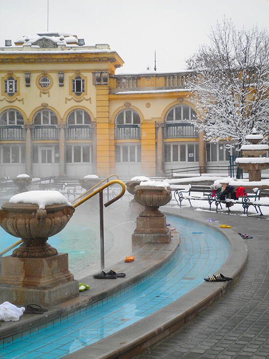 Szechenyi thermal bath in Budapest