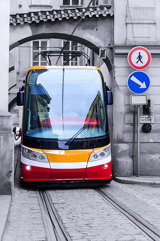 Tram on the streets of Prague