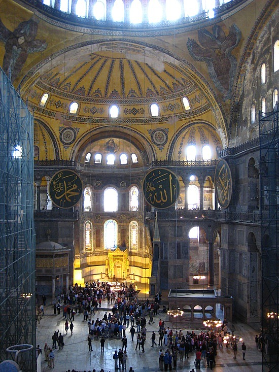 Interior of the Hagia Sofia (image: Angela Griffin)