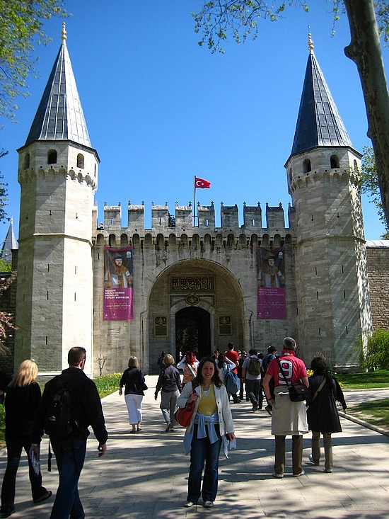 Angela outside Topkapi Palace (image: Angela Griffin)