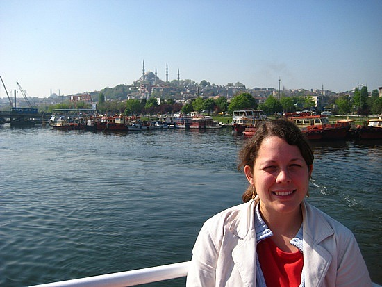 Angela on the Bosphorus cruise (image: Angela Griffin)
