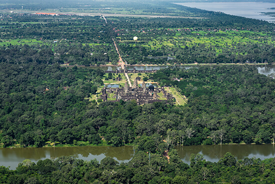 Angkor Wat from a microlight (image: Ross Jennings)