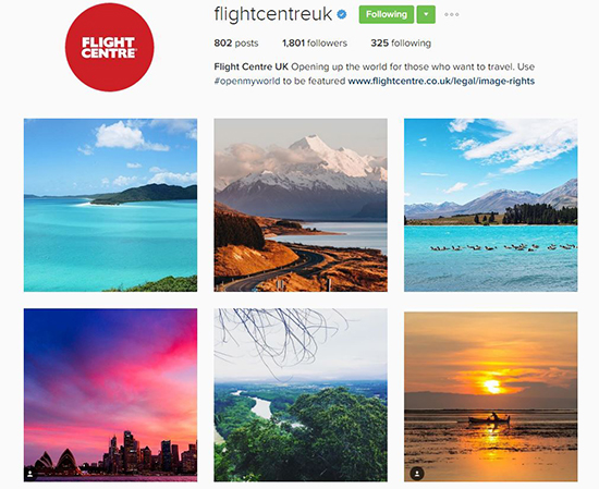 Share your travel photos with us on Instagram