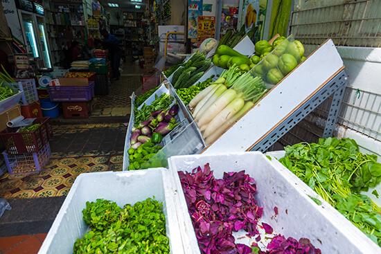 Singapore veggie market