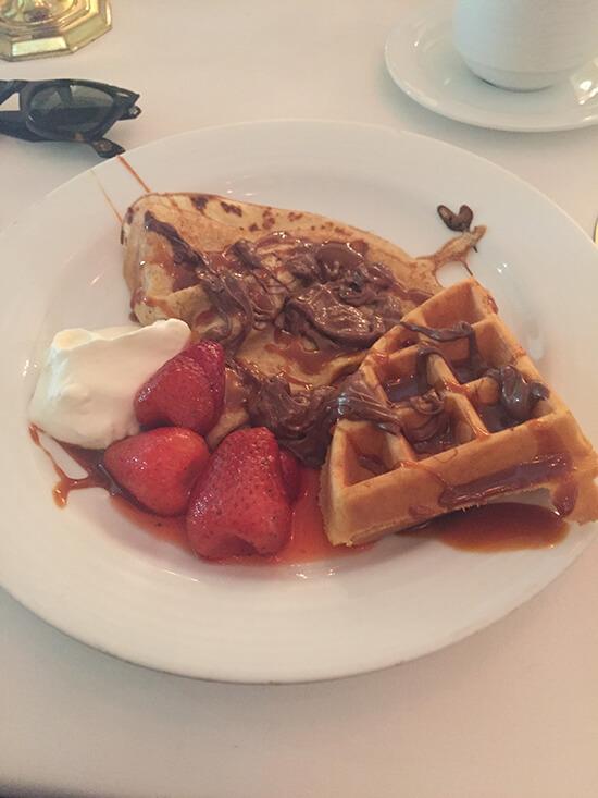 Waffles at Market Café (image: Tessa Watkins)