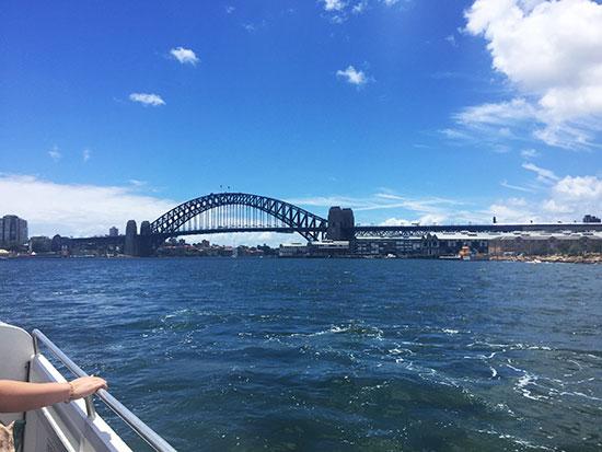 Sydney Harbour Bridge from ferry