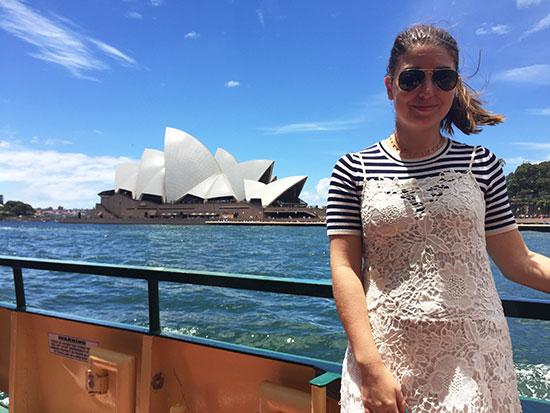 Lauren in front of the Opera House