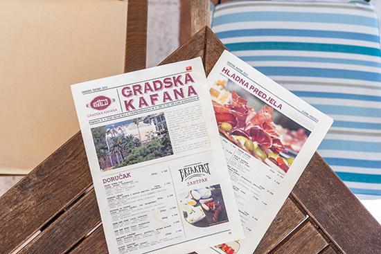 Gradska Kafana menu (image: Ross Jennings)