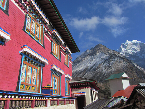 At Thyangboche Monastery (image: Angela Griffin)