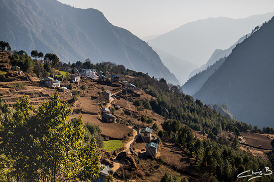 Houses on the outskirts of Lukla (image: Chris Bonfield)