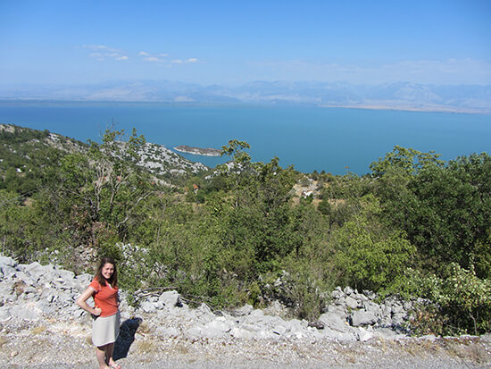 Me at Lake Skadar (image: Angela Griffin)