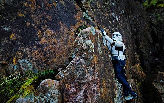 Eric climbing (image: Darryll Jones)