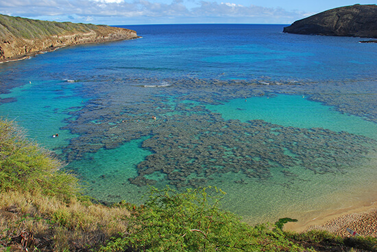 The Hanauma Bay nature reserve