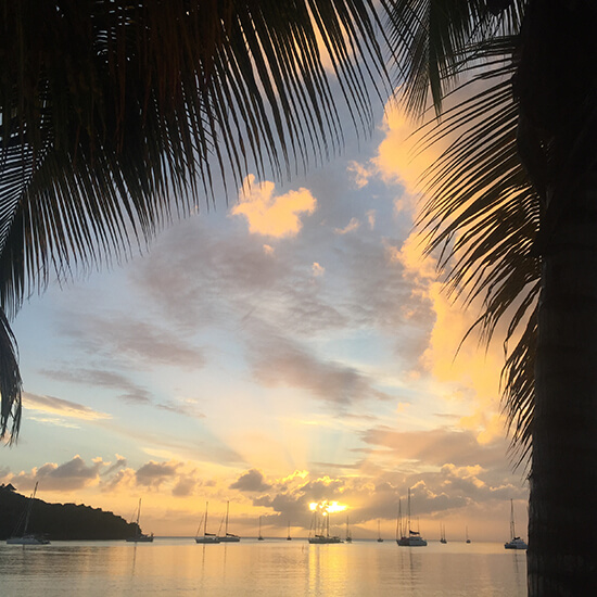Antigua sunset (image: Daisy Cropper)