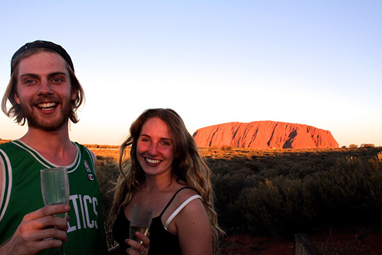 Two Bohemians at Uluru (image: Two Bohemians)