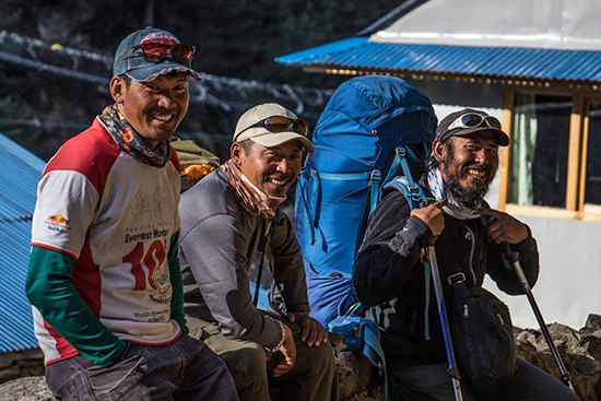Our Sherpas, Lakpa Jangbu and Kaji (image: Chris Bonfield)