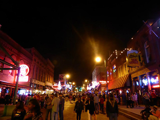 Beale Street in Memphis. Image: Dominique Kotsias