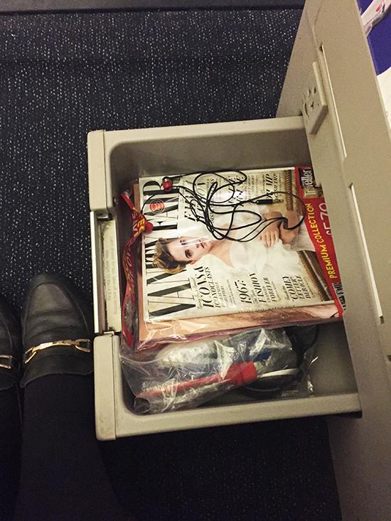 A storage draw onboard Business Class (Image: Lauren Burvill)